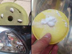 poliranje farova na automobilu