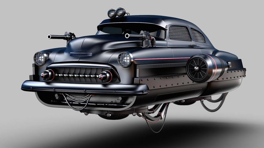 Vozila budućnosti prikazana kao post-apokaliptične borbene hover jurilice